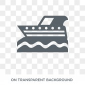 motorboat icon Trendy flat vector motorboat icon on transparent background from Nautical collection High quality filled motorboat symbol use for web and mobile