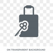 Left-luggage icon Left-luggage design concept from Hotel collection Simple element vector illustration on transparent background