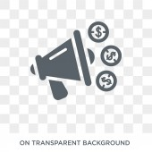 marketing budget icon Trendy flat vector marketing budget icon on transparent background from General collection High quality filled marketing budget symbol use for web and mobile