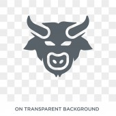 Bison icon Trendy flat vector Bison icon on transparent background from animals  collection High quality filled Bison symbol use for web and mobile