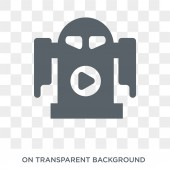 R2D2 icon Trendy flat vector R2D2 icon on transparent background from Cinema collection High quality filled R2D2 symbol use for web and mobile