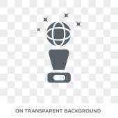 Golden globe icon Trendy flat vector Golden globe icon on transparent background from Cinema collection High quality filled Golden globe symbol use for web and mobile