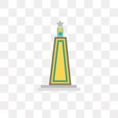 Obelisk vector icon isolated on transparent background Obelisk
