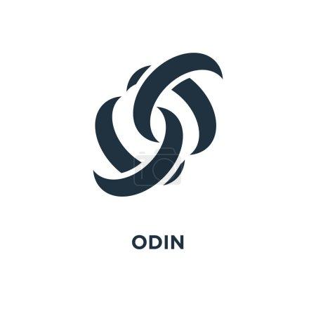 Odin icon. Black filled vector illustration. Odin ...