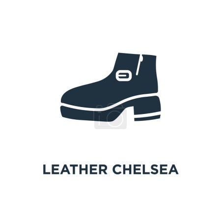 Leather Chelsea Boots icon Black