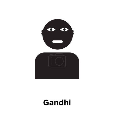Gandhi icon vector isolated on