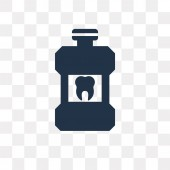 Mouthwash vector icon isolated on transparent background Mouthwash transparency concept can be used web and mobile