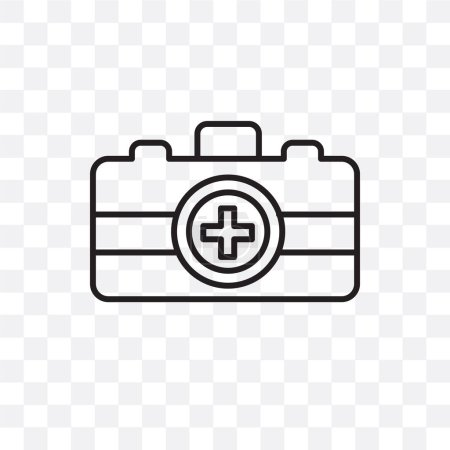 Illustration for Emergency kit vector icon isolated on transparent background, Emergency kit logo concept - Royalty Free Image
