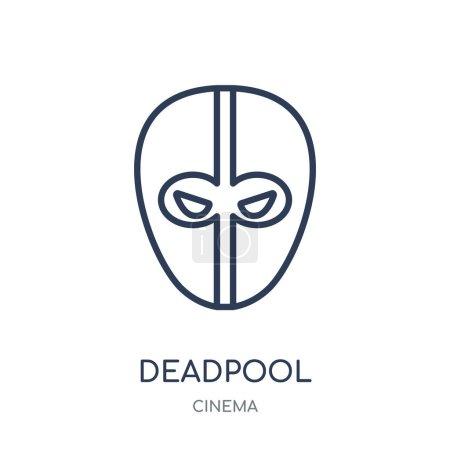 значок Дэдпул Дэдпул линейный символ