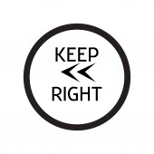 Keep Left icon vector isolated on white background for your web and mobile app design Keep Left logo concept