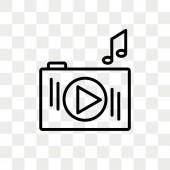 iPod Shuffle vector icon isolated on transparent background iPod Shuffle logo design