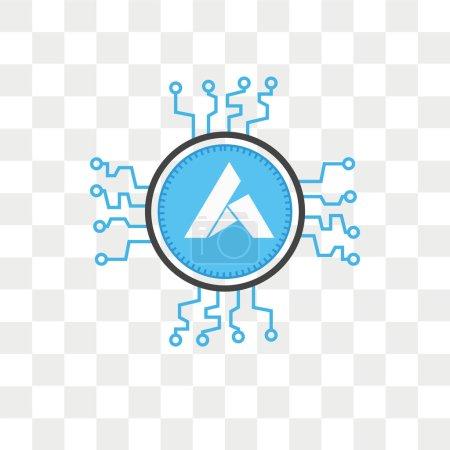 Illustration pour Icône vectorielle Ardor isolée sur fond transparent, concept de logo Ardor - image libre de droit