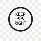 Keep Left vector icon isolated on transparent background Keep L