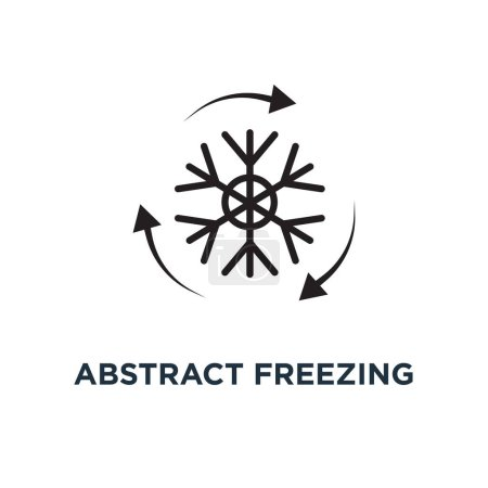 Abstract freezing icon. Simple element illustratio...