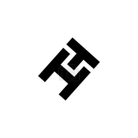 Illustration pour HT logo lettre design - image libre de droit
