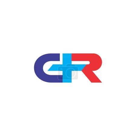 letra GR o CR con diseño de logotipo plus
