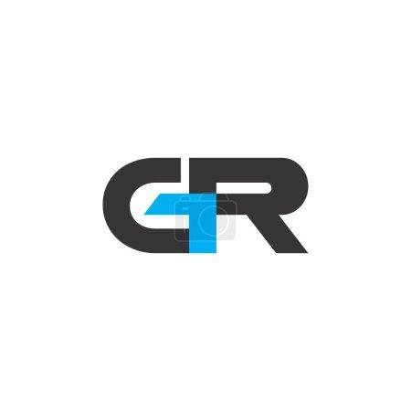 Letra GR logo design vector