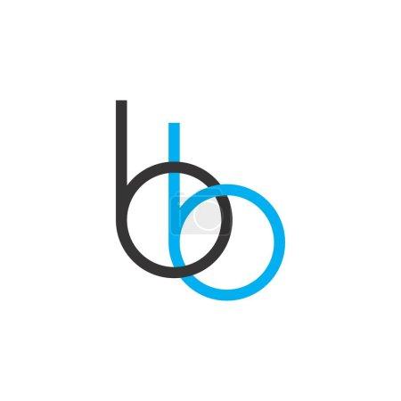 Illustration pour Lettre bb logo design vecteur - image libre de droit