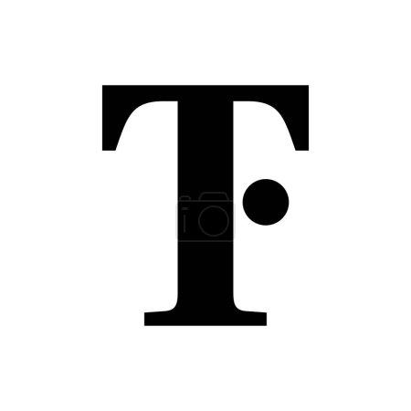 Illustration pour TF lettre logo design vecteur - image libre de droit