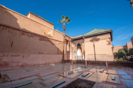 Photo for The Saadian Tombs. These tombs are sepulchres of Saadi Dynasty members. Top landmark and sightseeing in Marrakech, Morocco ( Marrakesh , Maroc ) - Royalty Free Image