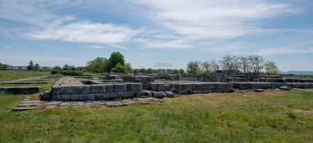 Photo pour Les ruines de Pliska, Bulgarie est la capitale médiévale du Premier Empire bulgare. - image libre de droit