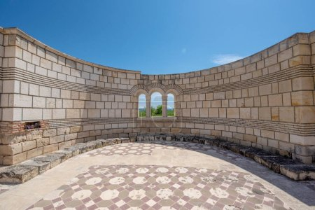 Photo for Pliska, Bulgaria and the Ruins of The Great Basilica - largest Christian cathedral in medieval Europe near The capital city of the First Bulgarian Empire. - Royalty Free Image