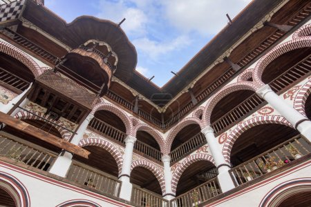 Photo for RILA, BULGARIA - 17.05.2020: The Orthodox Rila Monastery, a cultural heritage monument in Rila mountain. Saint Ivan Rilski church is the oldest and largest. Unesco world heritage site - Royalty Free Image