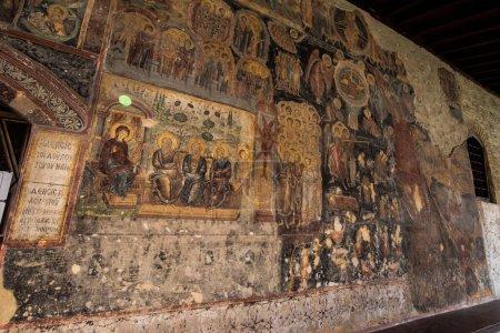 Photo pour Le monastère orthodoxe médiéval Rozhen près de Melnik, Bulgarie. Nativité de l'église de la Mère de Dieu - image libre de droit