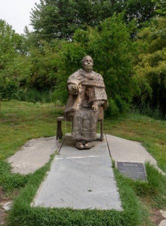 Photo for Rupite, Bulgaria - 22.05.2020: Statue of Bulgarian prophet Baba Vanga near town of Petrich - Royalty Free Image