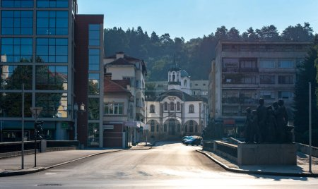 Photo for Gabrovo, Bulgaria - 04 August, 2019: Church of Assumption (Bulgarian: Uspenie Bogorodichno). The church is a masterpiece of the Bulgarian national Revivals architecture. In the center of the town - Royalty Free Image