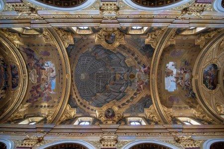 Photo for Vienna, Austria - 03.02.2020: Jesuit Church (Jesuitenkirche) interior, also known as the University Church (Universittskirche) on Ignaz Seipel Platz in Wien - Royalty Free Image