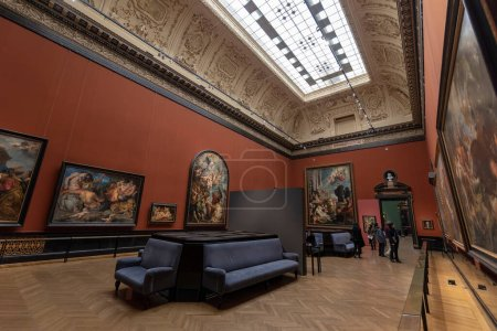 Photo for Vienna, Austria - 15.02.2020: Interior of Museum of Art History (Kunsthistorisches museum). The Largest And Oldest Museum in Wien. The Baroque Palace - Royalty Free Image