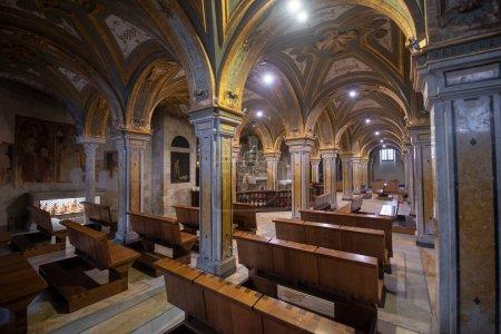 Photo for Bari, Puglia, Italy - 23 June, 2020: Interior of The Pontifical Basilica di San Nicola (Basilica of Saint Nicholas), a church in Bari. Roman Catholic Church in region of Apulia - Royalty Free Image
