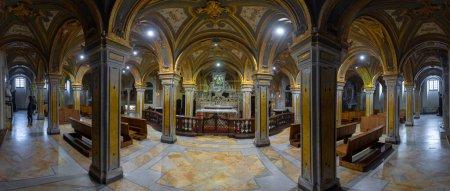 Photo for Bari, Puglia, Italy - 23 March, 2019: Inside interior of the crypt at Cathedral of Bari (Italian: Duomo di Bari or Chiesa Basilica Cattedrale Metropolitana di San Sabino) in region of Apulia - Royalty Free Image