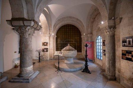 Photo for Bari, Puglia, Italy - 23 February, 2019: Inside interior of Cathedral (Italian: Duomo di Bari or Chiesa Basilica Cattedrale Metropolitana di San Sabino) in region of Apulia - Royalty Free Image