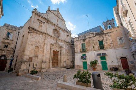 Photo for Facade of the Church of San Domenico (Chiesa di San Domenico) in the old town of Monopoli, Puglia, Italy. Region of Apulia - Royalty Free Image