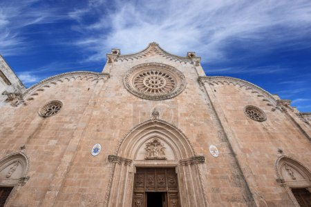 Photo for Roman Catholic cathedral in Ostuni, Brindisi, Apulia - Puglia, Italy. The dedication is to the Assumption of the Virgin Mary (Concattedrale di Santa Maria Assunta. - Royalty Free Image