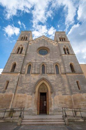 Photo pour Façade de l'église Paroisse de Saint Antoine de Fulgentius (Chiesa Sant Antonio a Fulgenzio) à Lecce, Pouilles, Italie. - image libre de droit