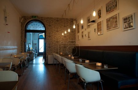 interior of Royale Cafe, Chiado district,  Lisbon, Portugal
