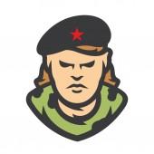 Cuba Communist revolutionary Vector Cartoon illustration