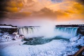 Niagara Falls frozen waters