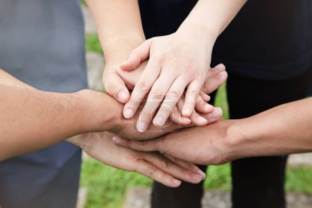 Photo for The human hand is touching together,teamwork concept - Royalty Free Image