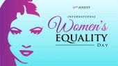 International Women's Equality Day Background Illustration Banne