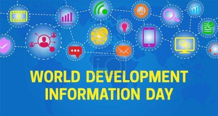 Bunter Hintergrund Banner Illustration zum Weltentwicklungsinformationstag