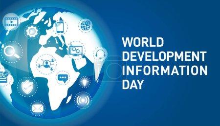 Hintergrund Illustration zum Weltentwicklungsinformationstag