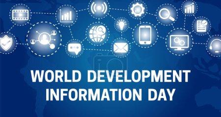 Hintergrund-Illustration zum Blauen Weltentwicklungsinformationstag