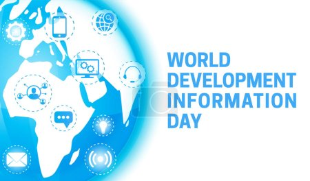 Hintergrund-Illustration zum Weltentwicklungsinformationstag mit Globus