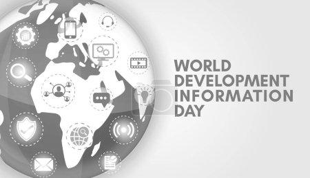 Grau Hintergrund Banner Illustration zum Weltentwicklungsinformationstag