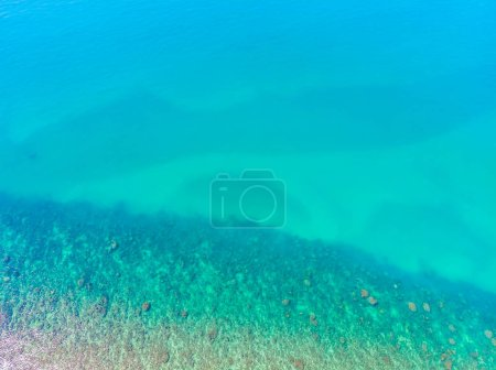 Aerial view of beautiful sea and ocean water surface textures for background