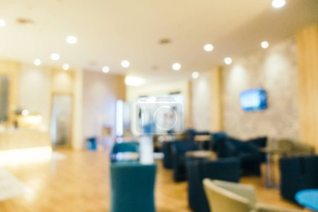 Photo for Abstract blur airport terminal and lounge interior for background - Royalty Free Image
